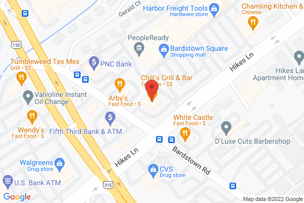 Mapped location of Chili's
