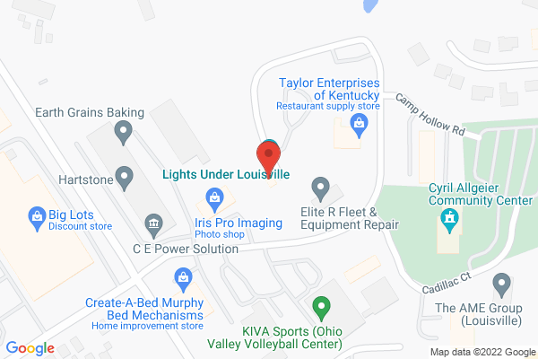 Mapped location of Lights Under Louisville