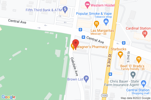 Mapped location of Wagner's Pharmacy