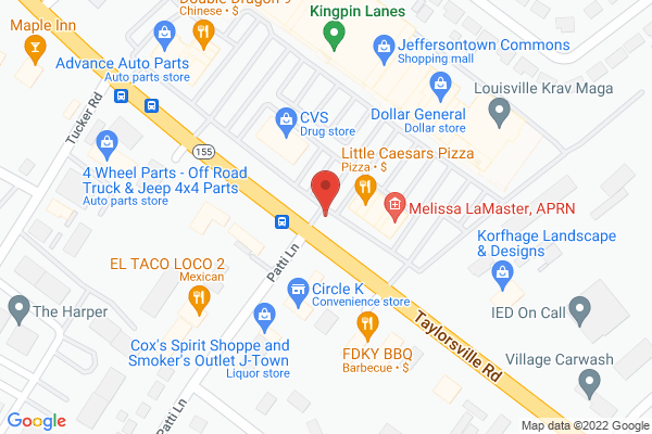 Mapped location of Muscle Monkey Grill