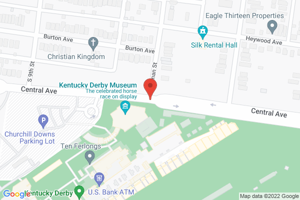 Mapped location of Churchill Downs