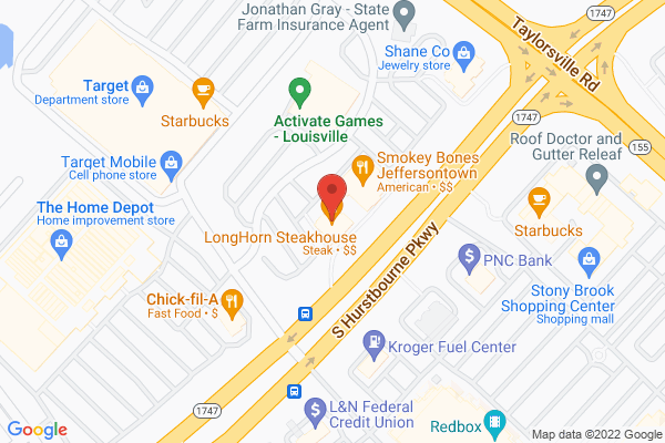 Mapped location of Longhorn Steakhouse