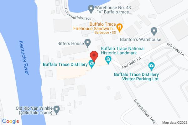 Mapped location of Buffalo Trace Distillery