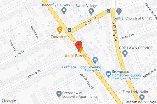 Mapped location of Nord's Bakery