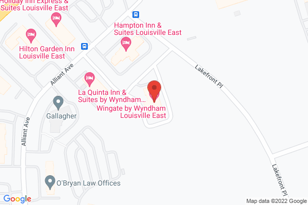 Mapped location of Wingate by Wyndham Louisville East