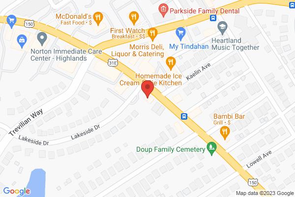 Mapped location of Kern's Korner