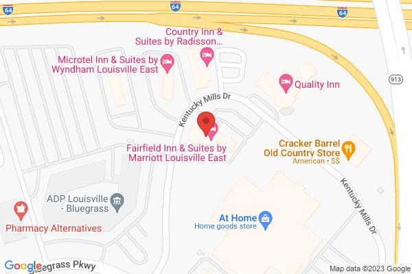 Mapped location of Fairfield Inn & Suites by Marriott Louisville East