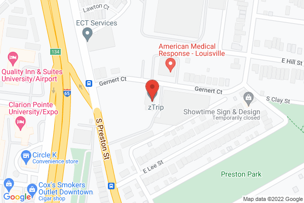 Mapped location of zTrip