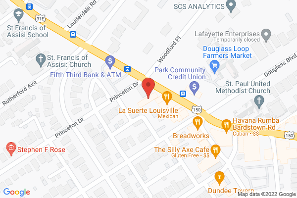Mapped location of Bubbly Bliss Bar