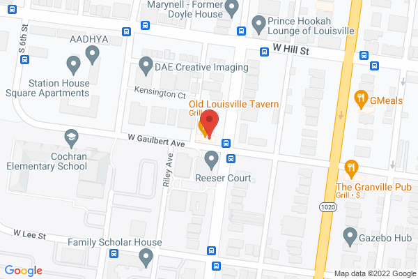 Mapped location of Old Louisville Tavern