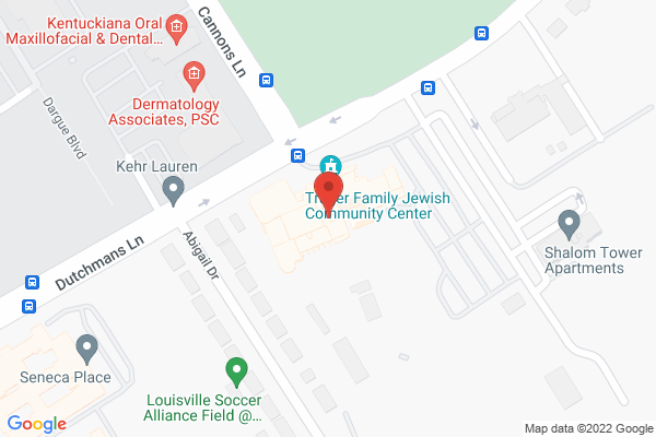 Mapped location of Jewish Community of Louisville