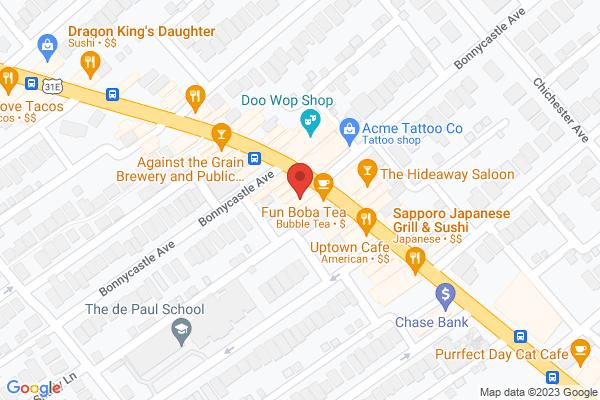 Mapped location of LouVino Restaurant & Wine Bar