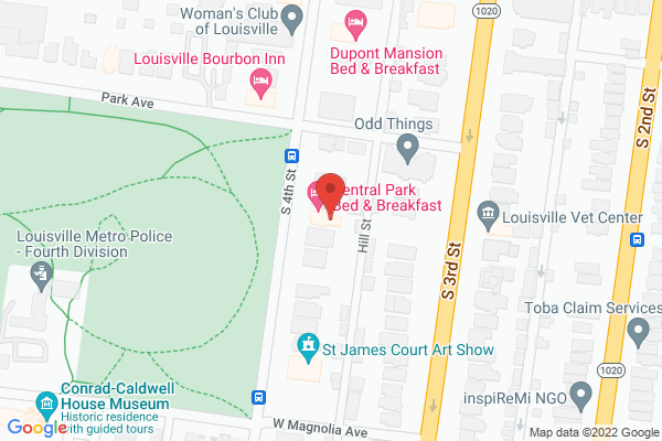Mapped location of Central Park Bed & Breakfast
