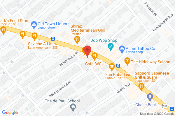 Mapped location of Afrokanza Lounge