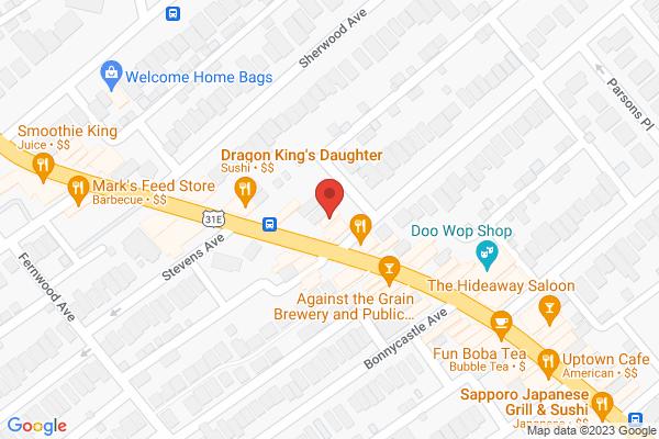 Mapped location of Georgia's Sweet Potato Pie Co.