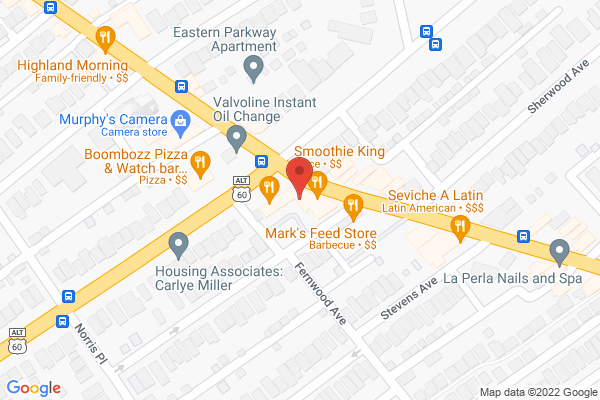 Mapped location of Highland Entertainment District