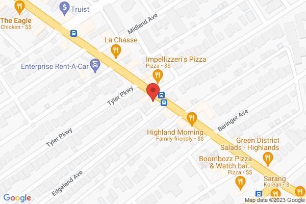 Mapped location of Kizito