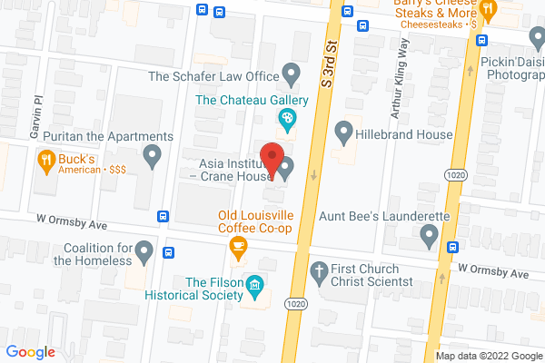 Mapped location of Asia Institute - Crane House
