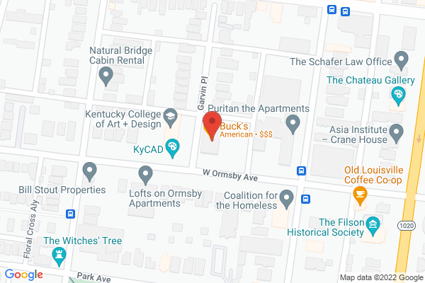 Mapped location of Buck's Restaurant and Bar