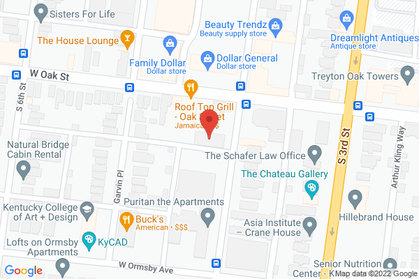 Mapped location of David Dominé's Louisville Historic Tours