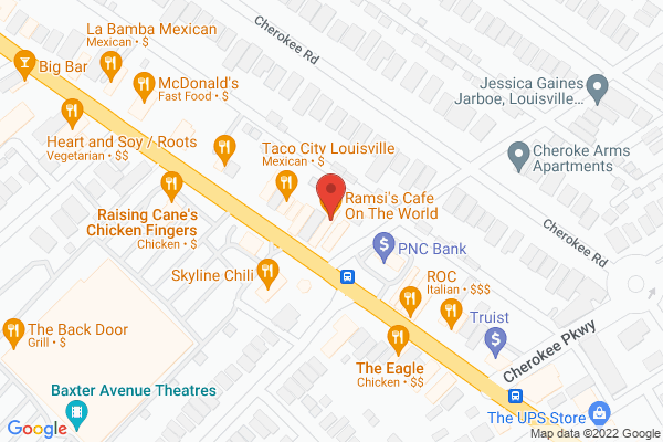 Mapped location of Ramsi's Cafe On The World