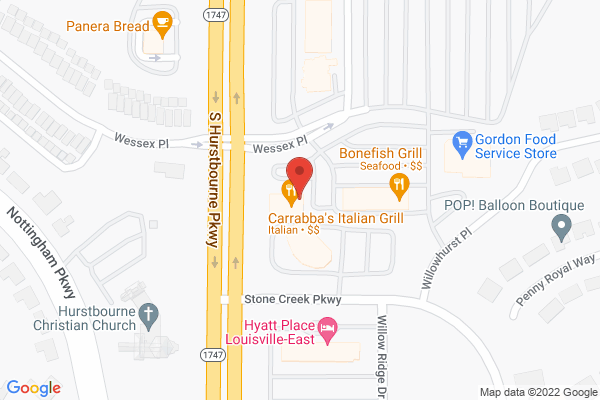 Mapped location of Carraba's Italian Grill