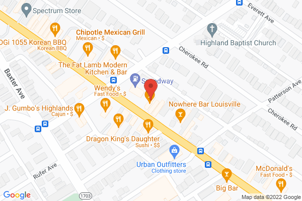 Mapped location of Chill Bar Highlands