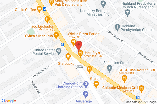 Mapped location of Falafel House, The