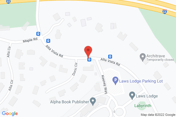 Mapped location of Gardencourt at the Louisville Seminary