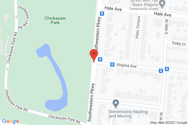 Mapped location of Chickasaw Park