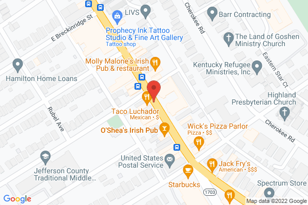 Mapped location of El Taco Luchador