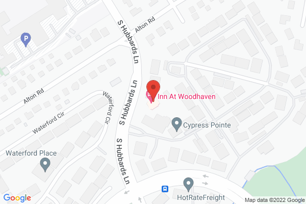 Mapped location of Inn at Woodhaven