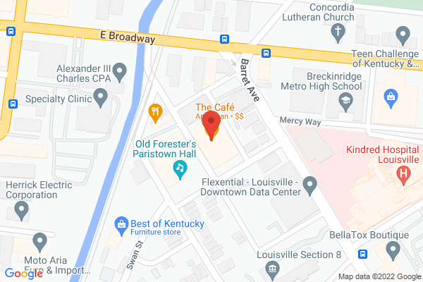 Mapped location of Paristown