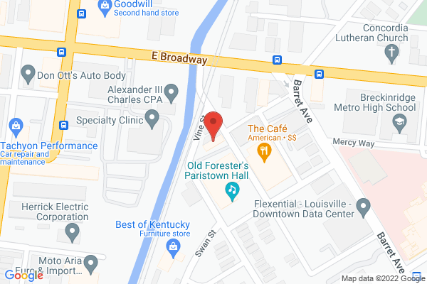 Mapped location of Cafe, The