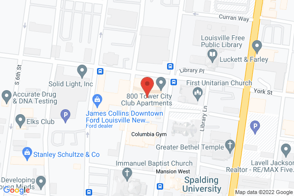 Mapped location of CC's Low Carb Kitchen