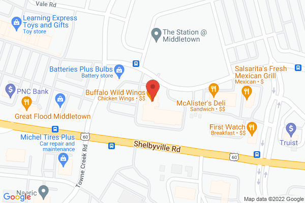 Mapped location of Buffalo Wild Wings (BW-3's)
