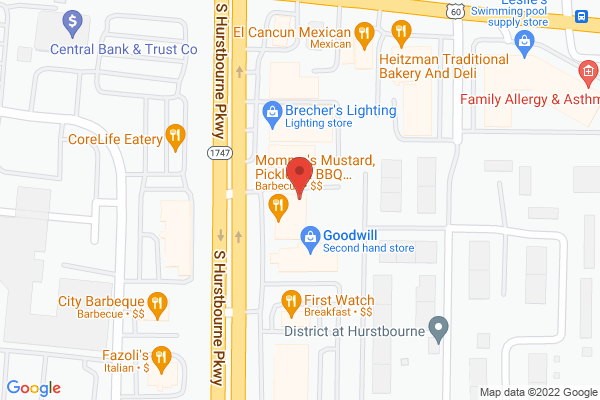 Mapped location of Momma's Mustard Pickles & BBQ Hurstbourne