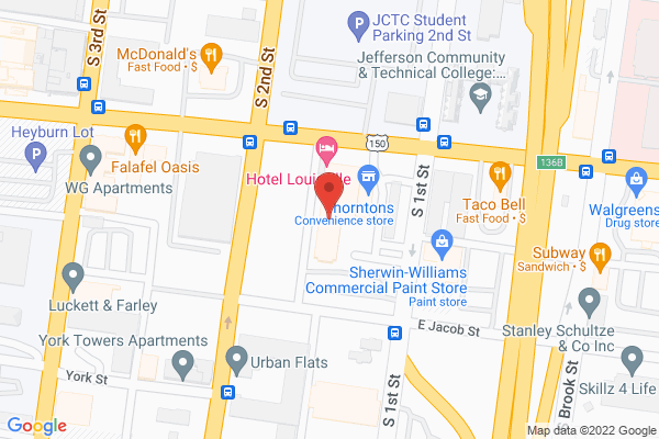Mapped location of Hotel Louisville