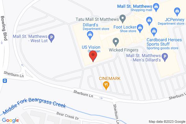 Mapped location of Mall St. Matthews