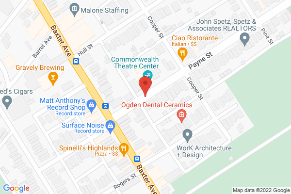 Mapped location of Commonwealth Theatre Center