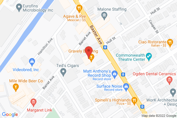Mapped location of Gravely Brewing Co.