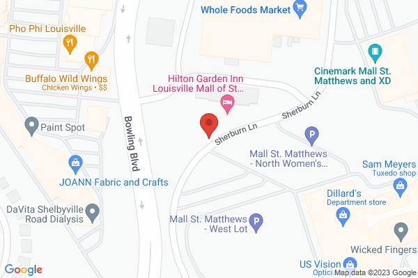 Mapped location of Hilton Garden Inn Louisville Mall St. Matthews