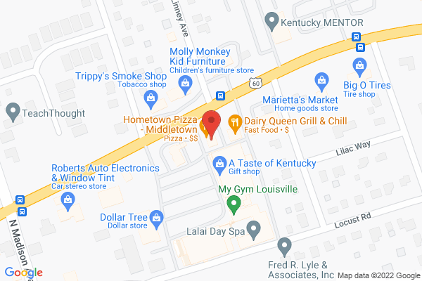 Mapped location of Hometown Pizza