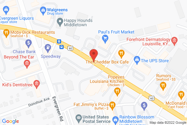 Mapped location of Fat Jimmy's