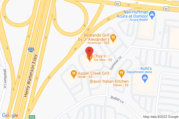 Mapped location of Chuy's Mexican Restaurant