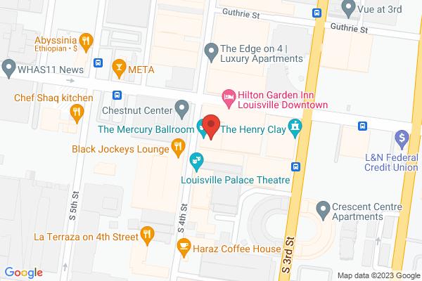 Mapped location of Mercury Ballroom