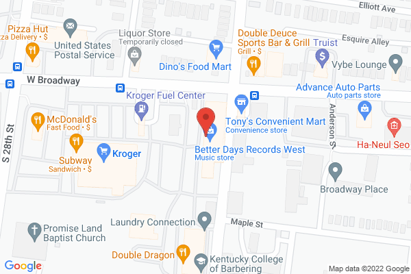 Mapped location of L'Bads Ice Cream Parlor