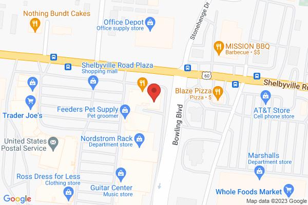 Mapped location of Jason's Deli