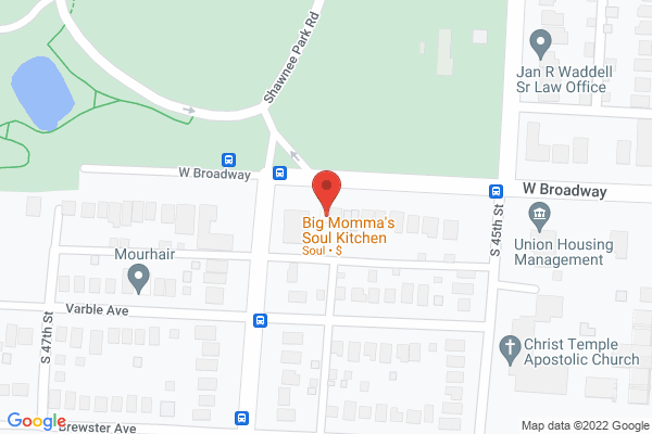 Mapped location of Big Momma's Soul Food Kitchen