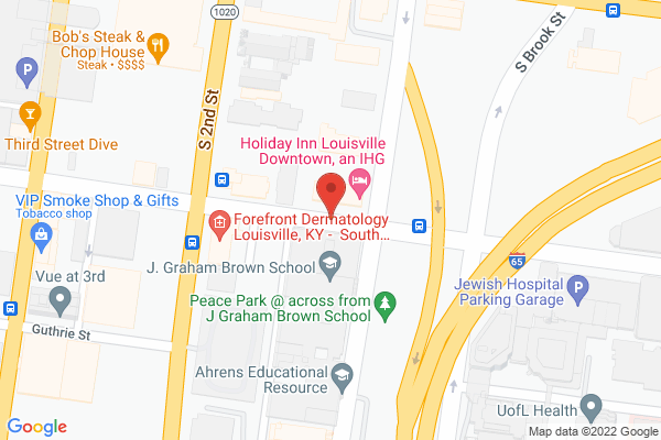 Mapped location of Louisville Magazine